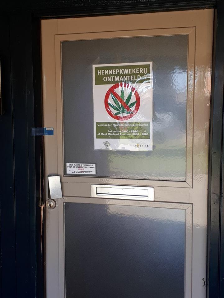 Sluiting woning in Giesbeek na vondst wietkwekerij