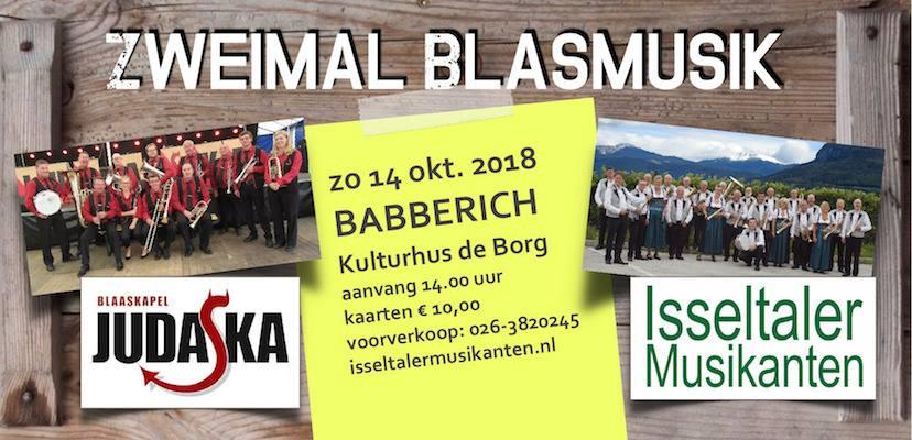'Zweimal Blasmusik'Babberich brengt topblaasmuziek op het podium
